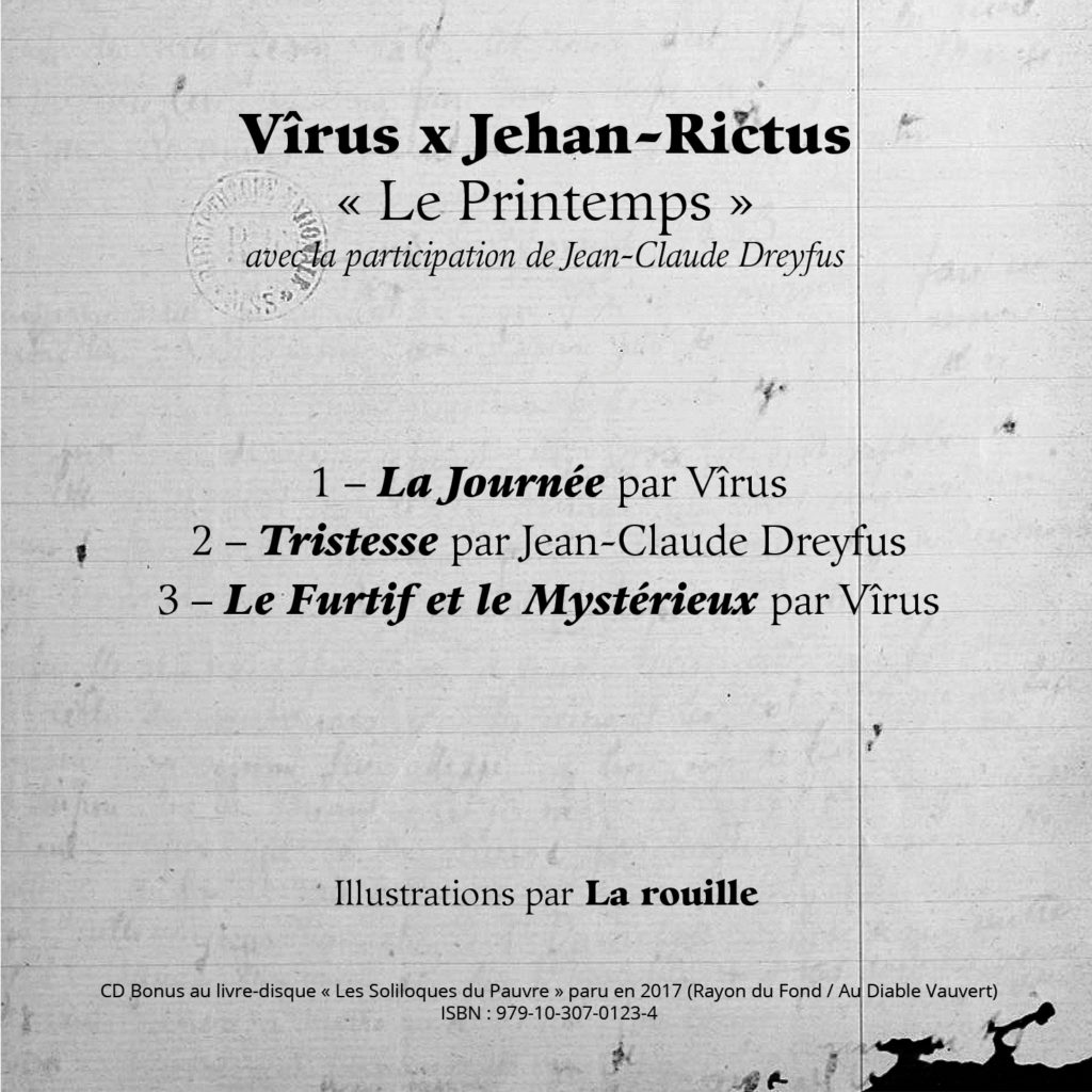 Vîrus x Jehan-Rictus / Le Printemps - Livret